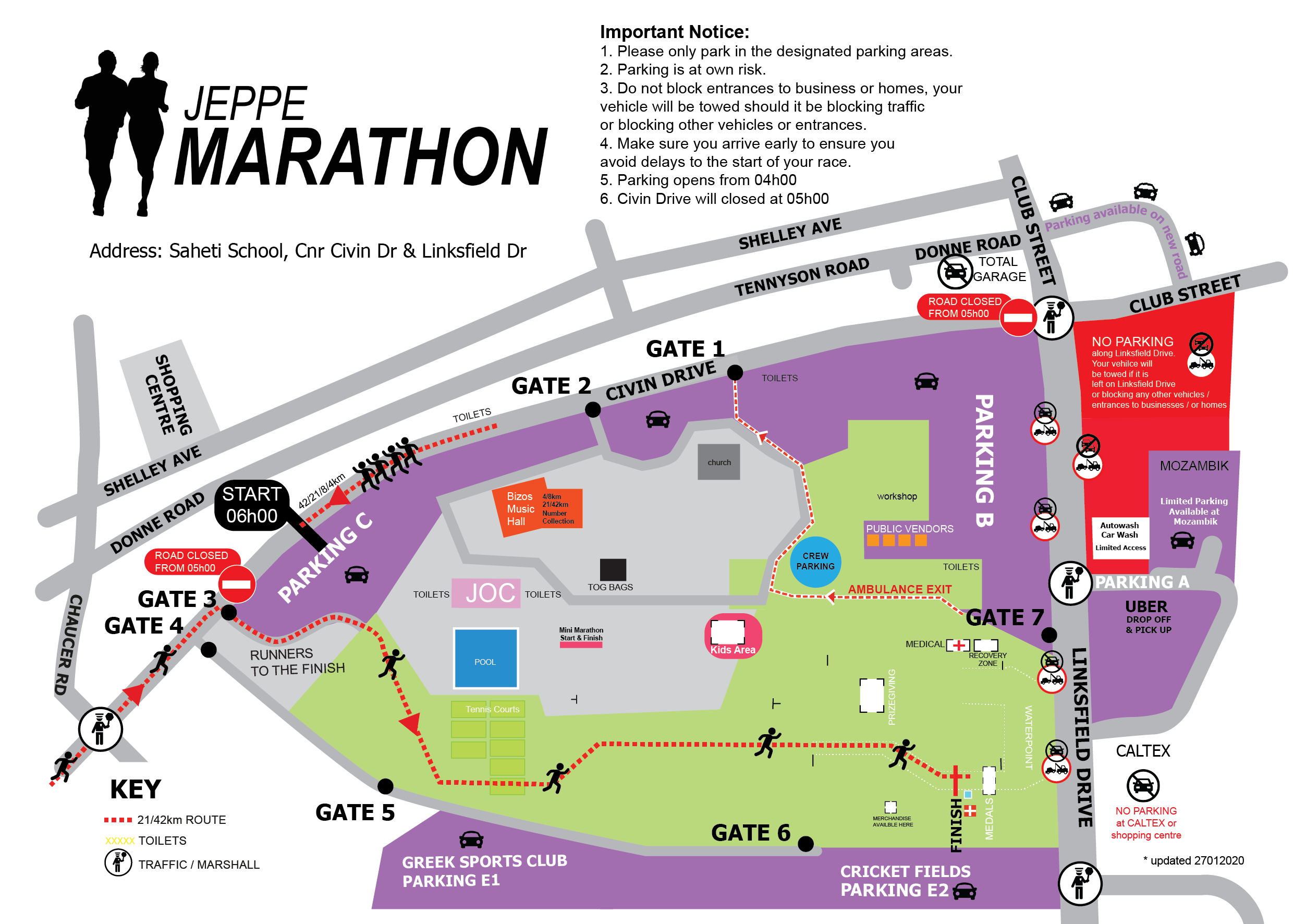 Parking and Venue Map